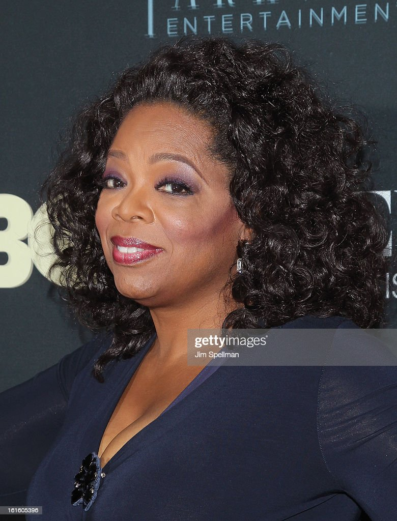 Talk Show Host/actress <a gi-track='captionPersonalityLinkClicked' href=/galleries/search?phrase=Oprah+Winfrey&family=editorial&specificpeople=171750 ng-click='$event.stopPropagation()'>Oprah Winfrey</a> attends 'Beyonce: Life Is But A Dream' New York Premiere at Ziegfeld Theater on February 12, 2013 in New York City.