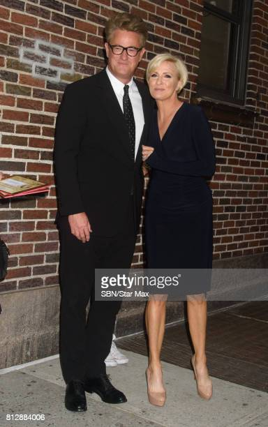 Talk Show Hosts Joe Scarborough and Mika Brzezinski are seen on July 11 2017 in New York City