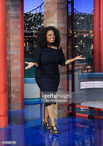 Talk show legend Oprah Winfrey makes her final appearance on the Late Show with David Letterman Friday May 15 2015 on the CBS Television Network