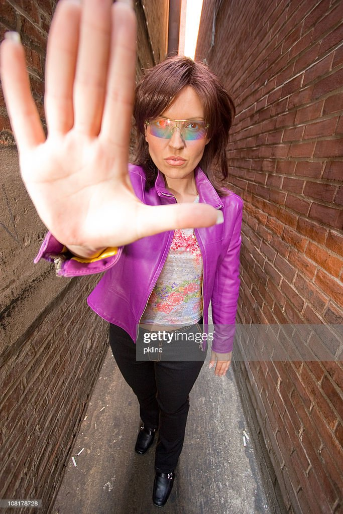 Talk to the hand : Stock Photo