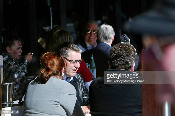 Talkback radio show host Ray Hadley lunches with friends at Otto restaurant at Woolloomooloo after the latest ratings showed him ahead of rival and...