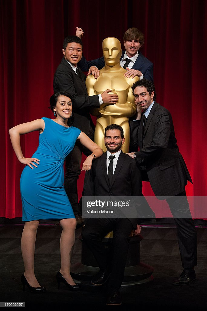 Talkhon Hamzavi, Eusong Lee, David Aristizabal, Wouter Bouvijn and Mauro Mueller attend The Academy Of Motion Picture Arts And Sciences' 40th Annual Student Academy Awards Ceremony at AMPAS Samuel Goldwyn Theater on June 8, 2013 in Beverly Hills, California.