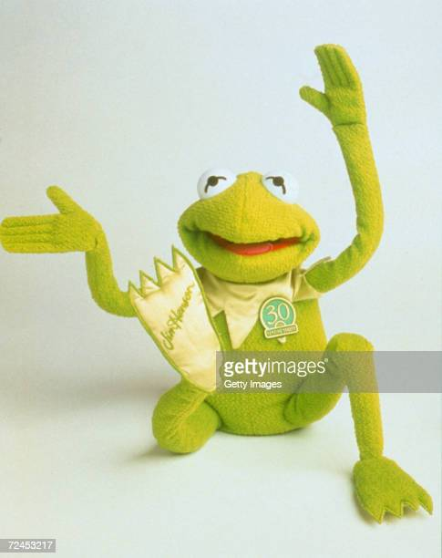 Talking 'Kermit the Frog' is one of the hottest toys on show at the American International Toy Fair in New York City February 8 1999