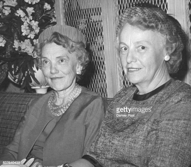 Talking of their busy summer during a recent luncheon are Mrs W Braxton Ross left and Mrs Frank Spratlen Jr Credit Denver Post