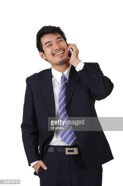 電話で話している