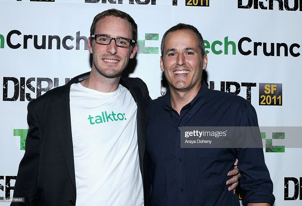 Talkto Co-Founders Riley Crane (R) and Stuart Levinson attend Day 2 of TechCrunch Disrupt SF 2011 held at the San Francisco DLsign Center Concourse on September 13, 2011 in San Francisco, California.