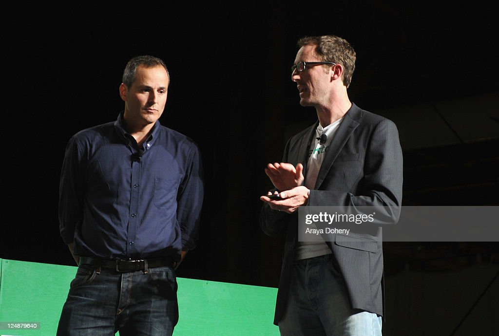 Talkto Co-Founders Riley Crane (R) and Stuart Levinson speak onstage at Day 2 of TechCrunch Disrupt SF 2011 held at the San Francisco Design Center Concourse on September 13, 2011 in San Francisco, California.