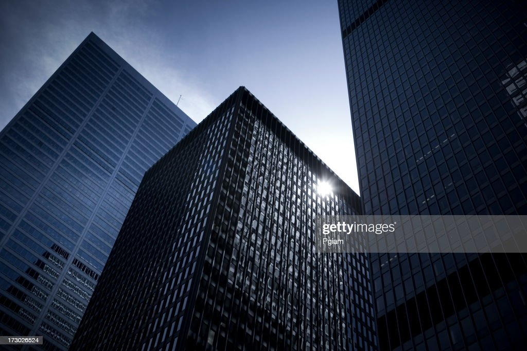 Tall buildings in the financial district : Stock Photo