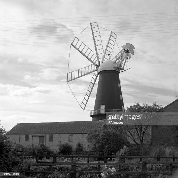 A tall landmark which can be seen for miles over the surrounding flat countryside is this windmill said to be the only eightsail windmill in England...