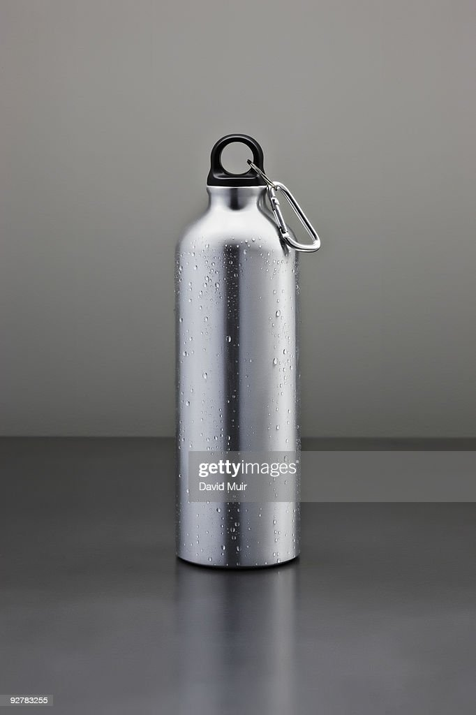 tall metal water bottle : Stock Photo