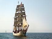 Tall Ship At Sail on Sunny Morning