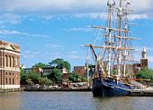 Tall Ship Docked in Fells Point Baltimore