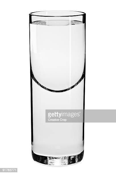 Tall shot glass with liquid