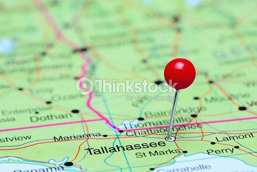 Tallahee Pinned On A Map Of Usa Stock Photo   Thinkstock on