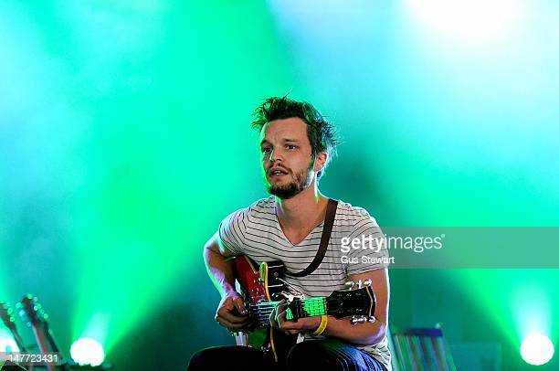 Tallest Man on Earth performs on stage during Hop Farm Festival at Hop Farm Family Park on July 1 2012 in Paddock Wood United Kingdom