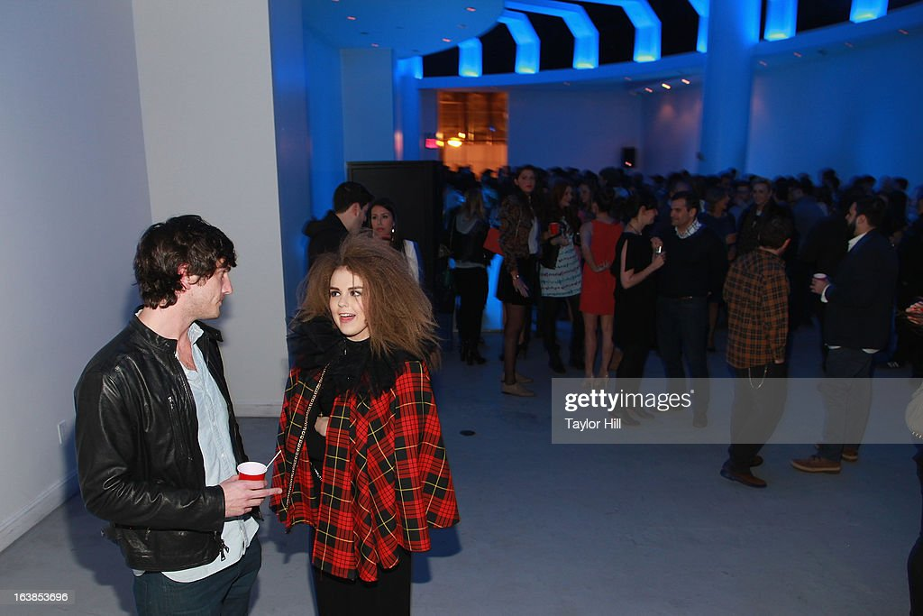 Tallia Storm and Andrew Jenks attend the 'World Of Jenks' Season 2 Premiere And 'Andrew Jenks: My Life As A Filmmaker' Book Launch Party at Solo on March 16, 2013 in New York City.