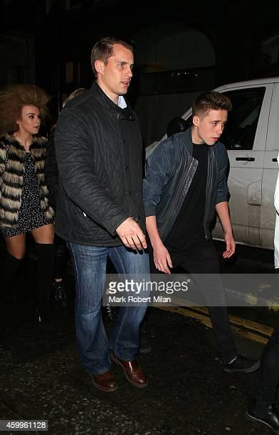 Tallia Storm and Brooklyn Beckham at Cafe KaiZen on December 4 2014 in London England