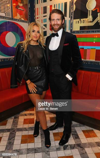 Tallia Storm and Craig McGinlay attend the InStyle EE Rising Star Party ahead of the EE BAFTA Awards at The Ivy Soho Brasserie on February 1 2017 in...