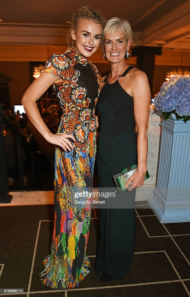 Tallia Storm (L) and Judy Murray attend the Scottish Fashion Awards in association with Maserati at Rosewood Hotel on October 21, 2016 in London, England.