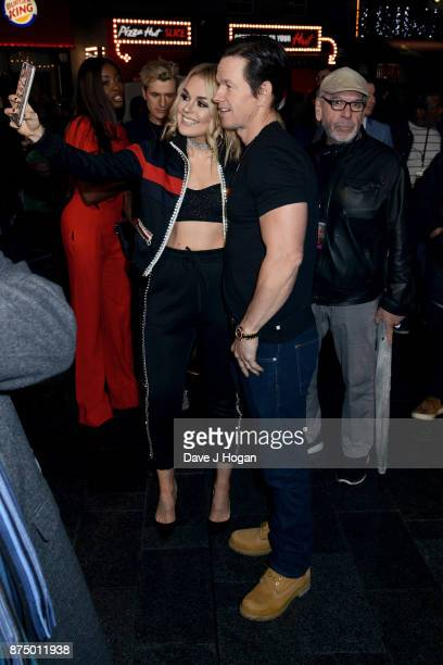 Tallia Storm and Mark Wahlberg arrive at the UK Premiere of 'Daddy's Home 2' at Vue West End on November 16 2017 in London England