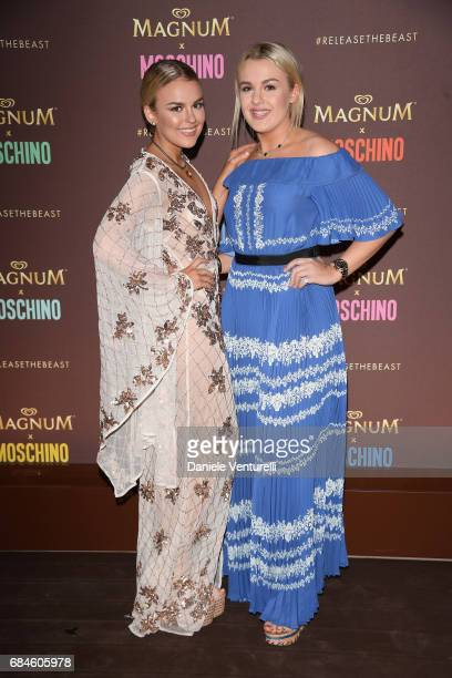 Tallia Storm and Tessie Hartmann attend Magnum party during the 70th annual Cannes Film Festival at Magnum Beach on May 18 2017 in Cannes France