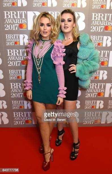 ONLY Tallia Storm and Tessie Hartmann attend The BRIT Awards 2017 at The O2 Arena on February 22 2017 in London England