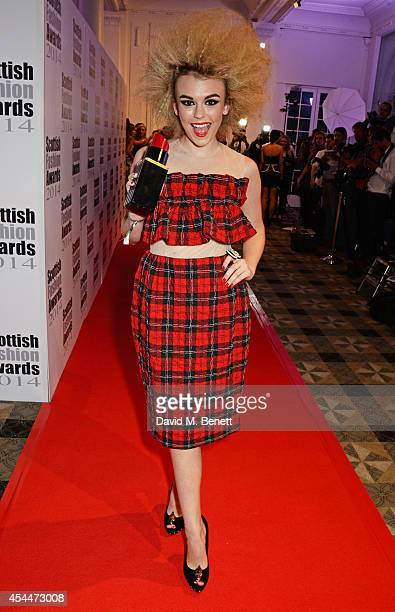 Tallia Storm arrives at the Scottish fashion invasion of London at the 9th annual Scottish Fashion Awards at 8 Northumberland Avenue on September 1...