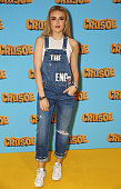 Tallia Storm attends a VIP screening of 'Robinson Crusoe' at the Vue West End on April 3 2016 in London England