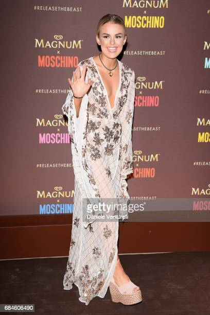 Tallia Storm attends Magnum party during the 70th annual Cannes Film Festival at Magnum Beach on May 18 2017 in Cannes France
