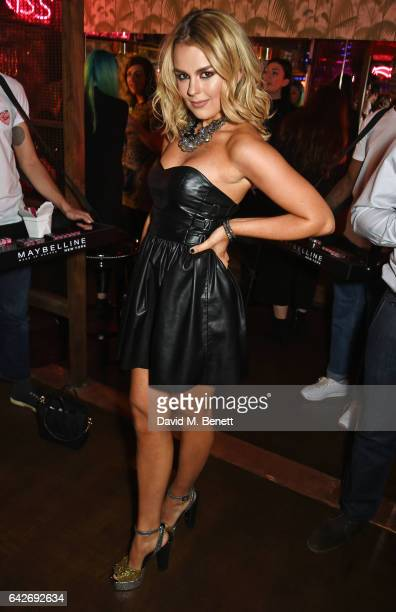 Tallia Storm attends Maybelline's Bring On The Night London Fashion Week party at The Scotch of St James on February 18 2017 in London England