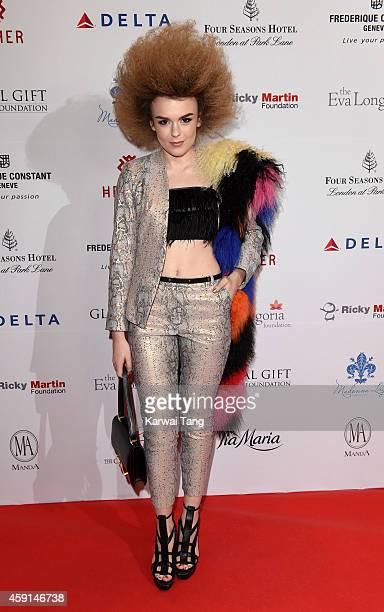 Tallia Storm attends the 5th Global Gift Gala hosted by honorary chair Eva Longoria at the Four Seasons Hotel on November 17 2014 in London England