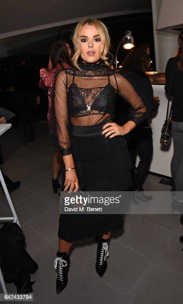 Tallia Storm attends the British Fashion Council Fashion Film x River Island film screening and cocktail party at The Serpentine Sackler Gallery on...