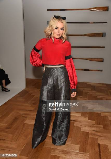 Tallia Storm attends the DAKS show during London Fashion Week September 2017 at The Langham Hotel on September 15 2017 in London England