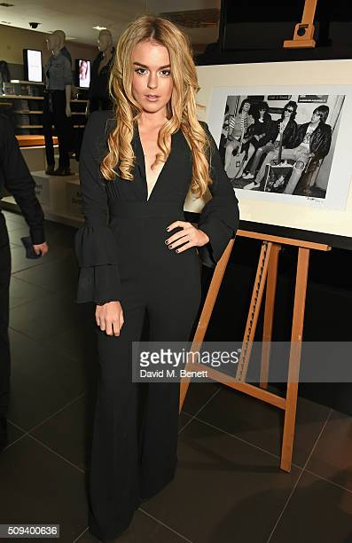 Tallia Storm attends the Gap Partnership with Lion Coffee Records Launch Party at Gap Flagship Store Oxford Street on February 10 2016 in London...