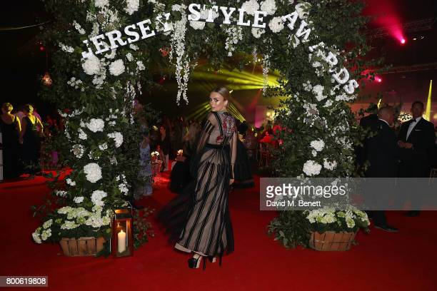 Tallia Storm attends the Jersey Style Awards 2017 in association with Chopard at The Royal Jersey Showground on June 24 2017 in Trinity Jersey