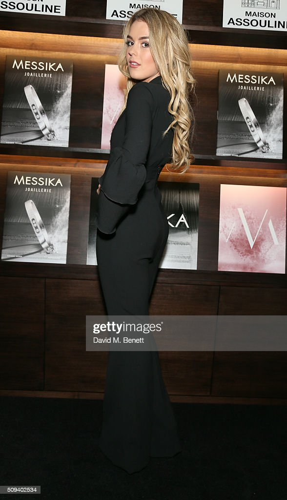 Talia Storm attends the launch of 'Messika Joaillerie' by Vivienne Becker at Maison Assouline on 10th February, 2016 in London, England.
