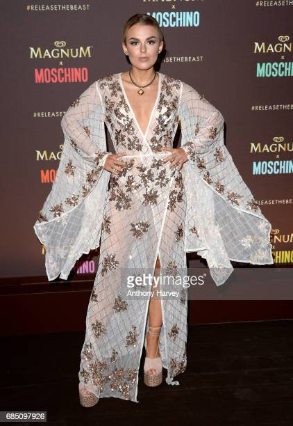 Tallia Storm attends the Magnum party during the 70th annual Cannes Film Festival at Magnum Beach on May 18 2017 in Cannes France