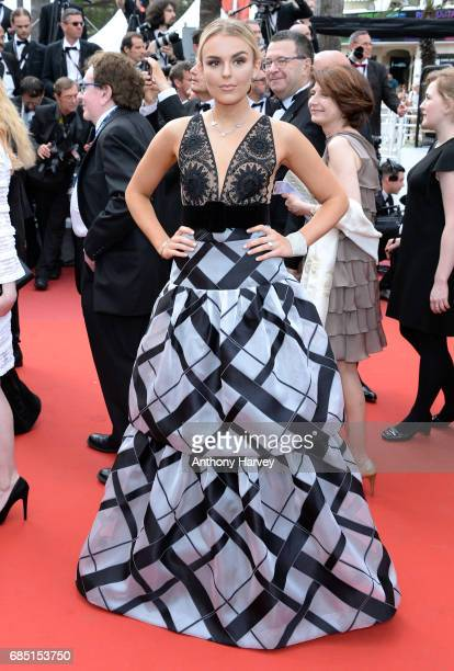 Tallia Storm attends the 'Nelyobov ' screening during the 70th annual Cannes Film Festival at Palais des Festivals on May 18 2017 in Cannes France