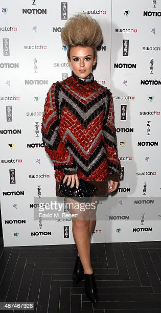 Tallia Storm attends the Notion Magazine X Swatch Issue 70 launch party at Chotto Matte on September 9 2015 in London England