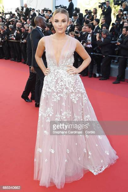 Tallia Storm attends the 'Okja' premiere during the 70th annual Cannes Film Festival at Palais des Festivals on May 19 2017 in Cannes France