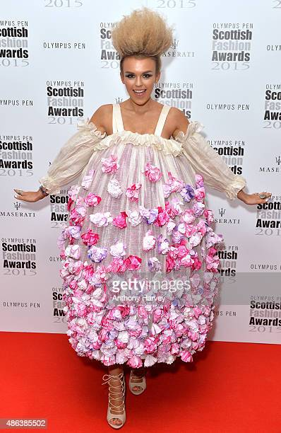 Tallia Storm attends the Scottish Fashion Awards at Corinthia Hotel London on September 3 2015 in London England