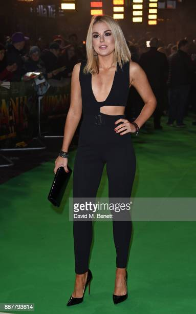 Tallia Storm attends the UK Premiere of 'Jumanji Welcome To The Jungle' at Vue West End on December 7 2017 in London England