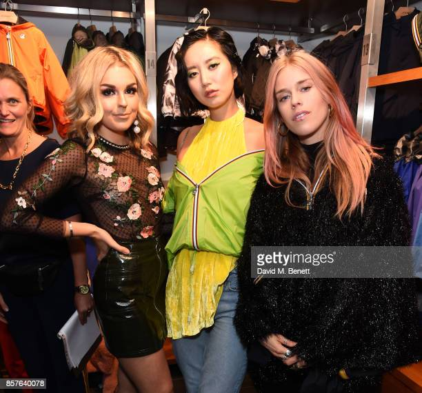 Tallia Storm Betty Bachz and Mary Charteris attend the launch of the KWay London flagship store on October 4 2017 in London England