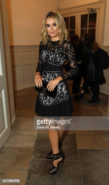 Tallia Storm poses backstage ahead of the PPQ show during the London Fashion Week February 2017 collections on February 17 2017 in London England