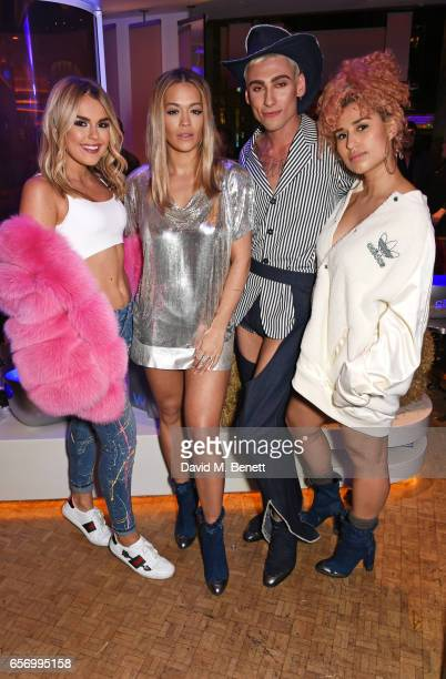 Tallia Storm Rita Ora Kyle De'Volle and Raye attend the launch of the JF London x Kyle De'Volle fall/winter 2017 capsule collection sponsored by...
