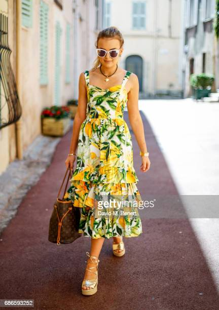 Tallia Storm wearing HM dress and River Island shoes at the 70th International Cannes Film Festival on May 20 2017 in Cannes France