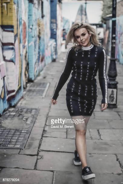 Tallia Storm wearing Versace on November 16 2017 in London England