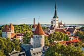 Tallinn, Estonia old city view from Toompea Hill.