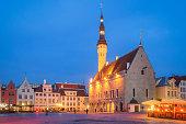 Town Hall of Tallinn at Dusk