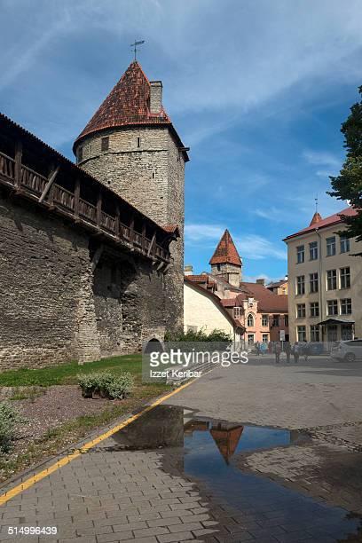 Tallinn Medieval City wall towers at Gumnaasiumi